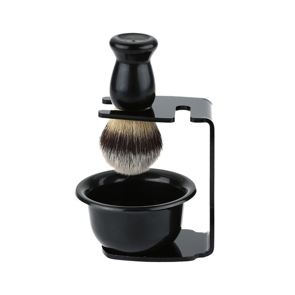 NEW 3 In 1 Shaving Soap Bowl +Shaving Brush+ Shaving Stand Bristle Hair Shaving Brush Set Men Beard Cleaning Tool Father Gift - The Big Boy Store