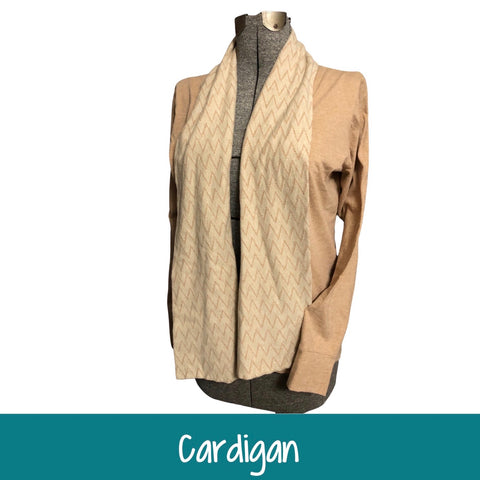 Cardigan - Knit Jersey Fabric