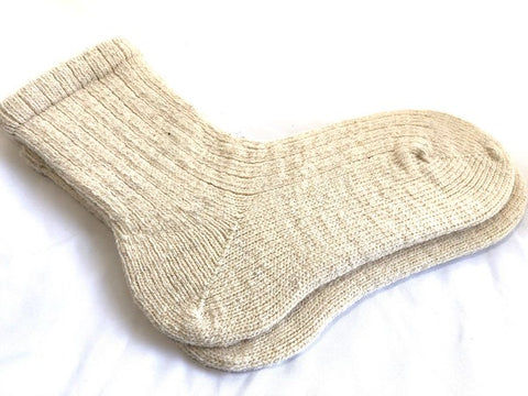 California Wool - Anderson Ranch - Ecru - Knit Socks