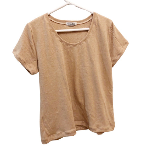 Scoop Neck Tshirt - Brown Organic Cotton - Women's Clothing