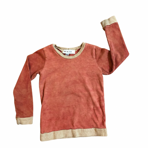 Long Sleeve Tshirt - Naturally Dyed - Madder Red - Baby-Toddler-Big Kids