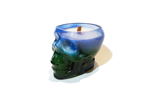 Skull Soy Candle - Blue & Green