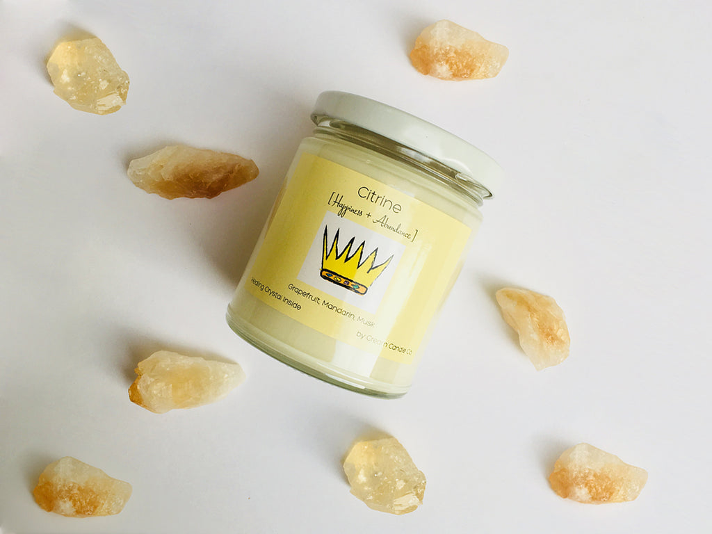 Citrine - Crystal Candle
