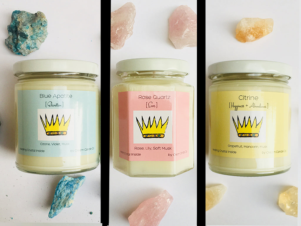Complete Collection of 3 - Healing Crystal Candles
