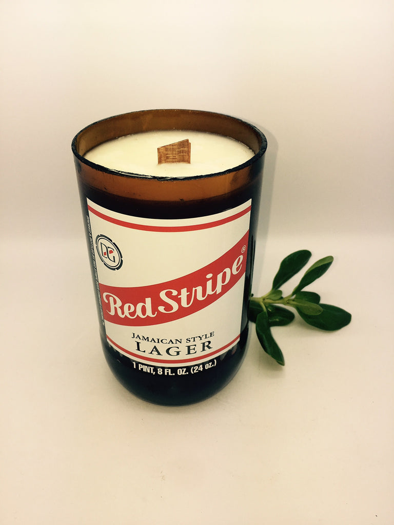 RED STRIPE Beer Soy Candle - Big Size