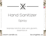 Very Vanilla- Hand Sanitizer Spray