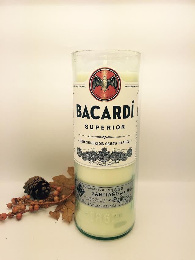 Bacardi Rum Candle - Chrome Scented