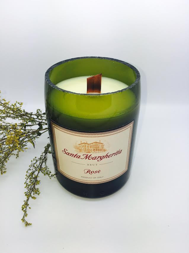 Santa Margherita Rose Wine Candle - Rose Scented