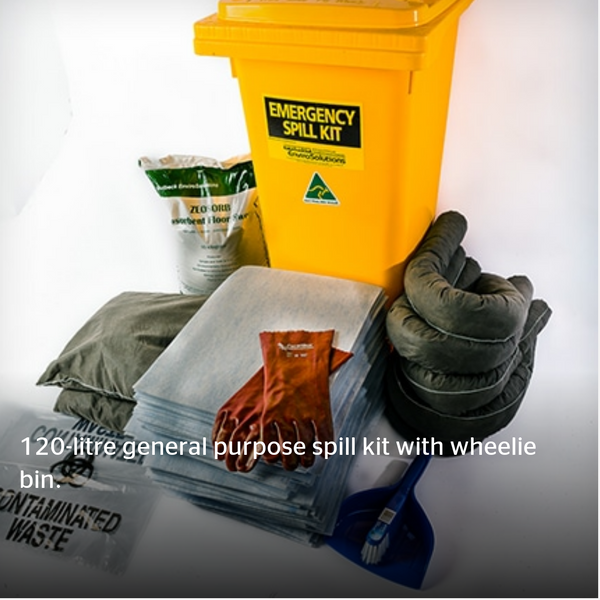 120L General Purpose Spill Kit - Wheelie Bin