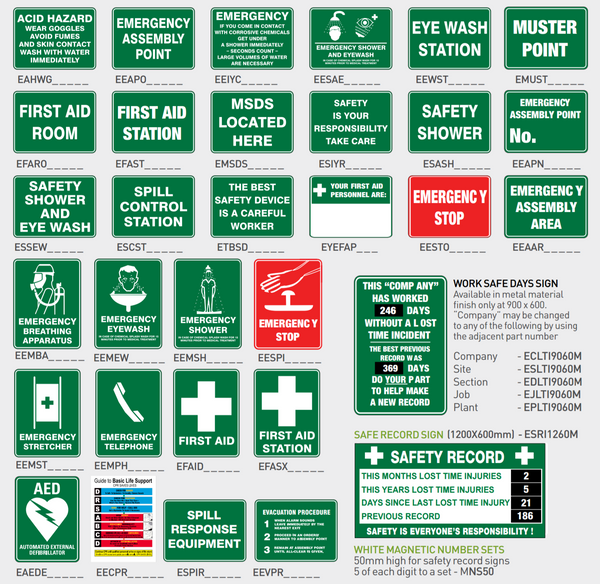 Emergency Information Signs