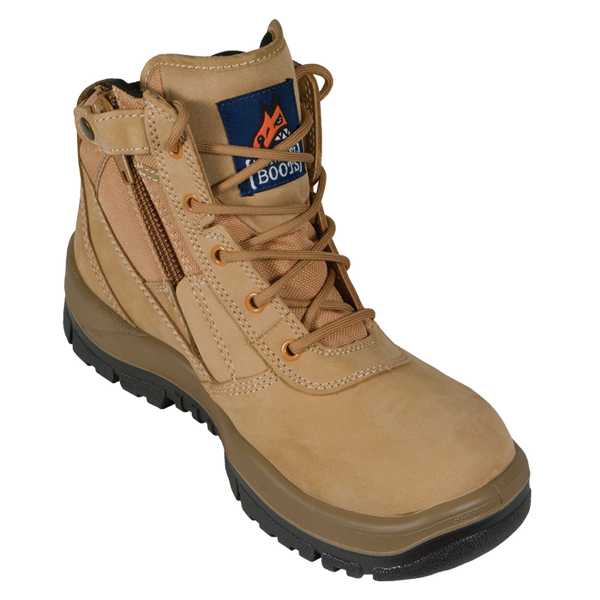 Mongrel 'T' Series Wheat Zip Sided Safety Boots