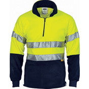 DNC HiVis Two Tone 1/2 Zip Polar Fleece with tape