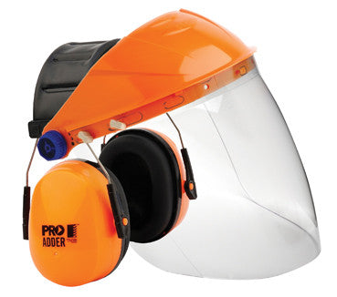 PROCHOICE Adder Earmuffs Combined Clear Visor