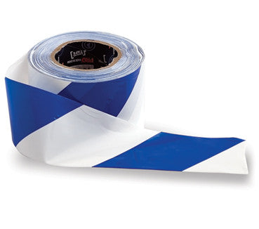 Barricade Tape - White / Blue