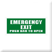 Emergency Exit Push bar to open