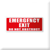 Emergency Exit Do not obstruct