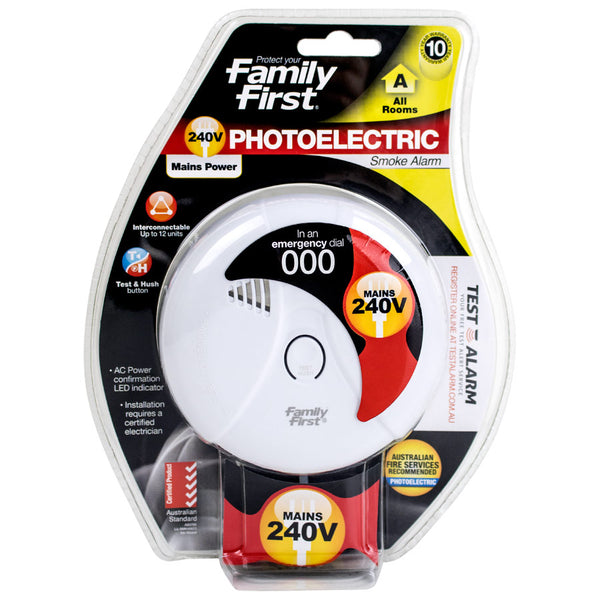 Photoelectric Smoke Alarm 240 Volt Interconnectable