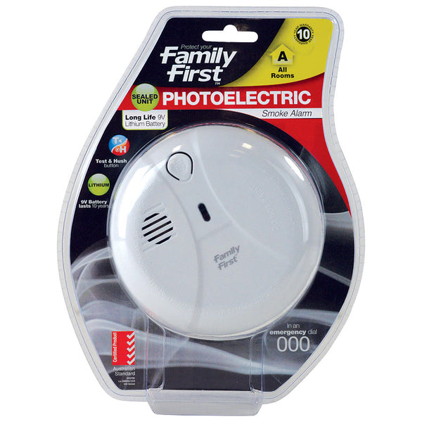 Photoelectric Smoke Alarm 10 Year Lithium