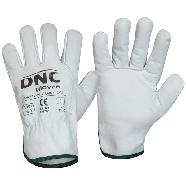 Premium Cow Grain Leather DNC Rigger Gloves