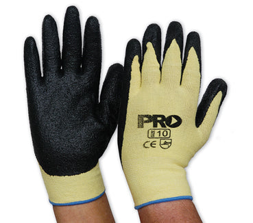 PROCHOICE Knitted Kevlar Black Nitrile Glove