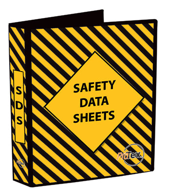 MSDS A4 Binder Yellow/Black