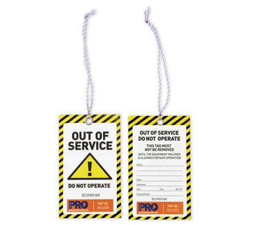 100 Yellow Caution Safety Tags