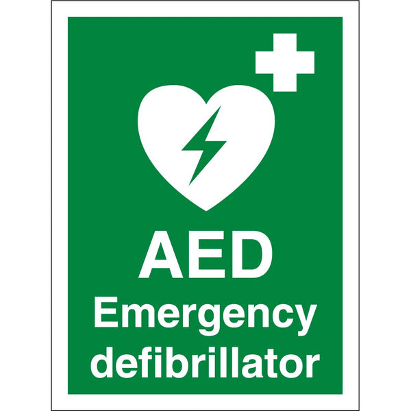 Automated External Defibrillator Sticker