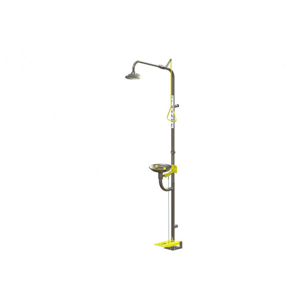 Combination Shower, Hand & Foot Operated Eyewash
