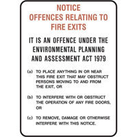 Fire Door Offences Sign