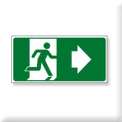 Running Man Sign right arrow