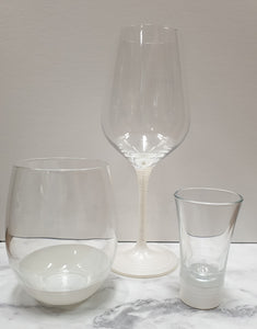 Assorted wine glasses-White