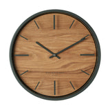 Willow Charcoal grey wall clock 30cm