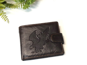 MENS LEATHER WALLET - EAGLE