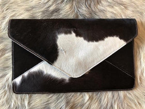 ENVELOPE CLUTCH -BARE LEATHER