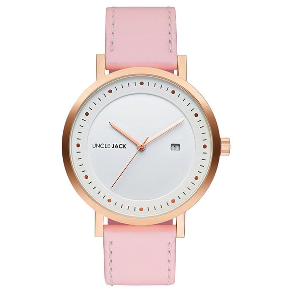 UNCLE JACK - BLUSH & ROSE LEATHER WATCH