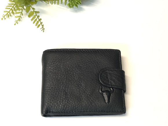 MENS LEATHER WALLET - LONGHORN