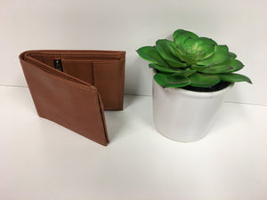 MENS LEATHER WALLET - TAN