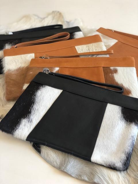 BARE LEATHER - KELLY CLUTCH