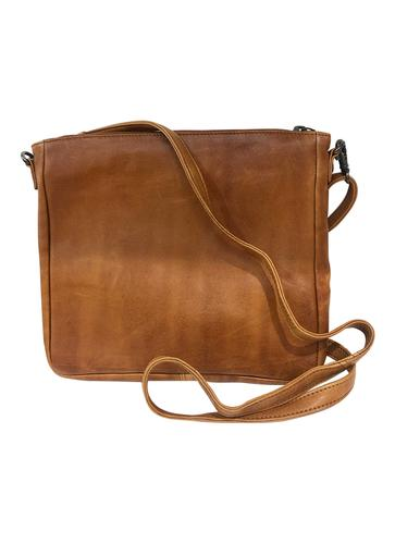 HAZEL LEATHER SHOULDER BAG - DUSKY ROBIN