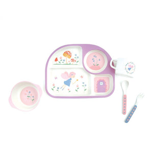 Bamboo Plate Set Fairy Dust