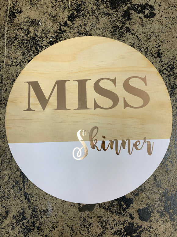 Custom Teacher Name Board