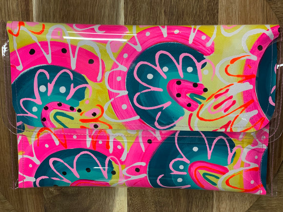 Poppy Lane Hand Painted Clutch Large