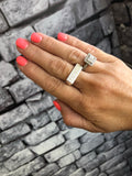 STERLING SILVER BAR SIGNET RINGS