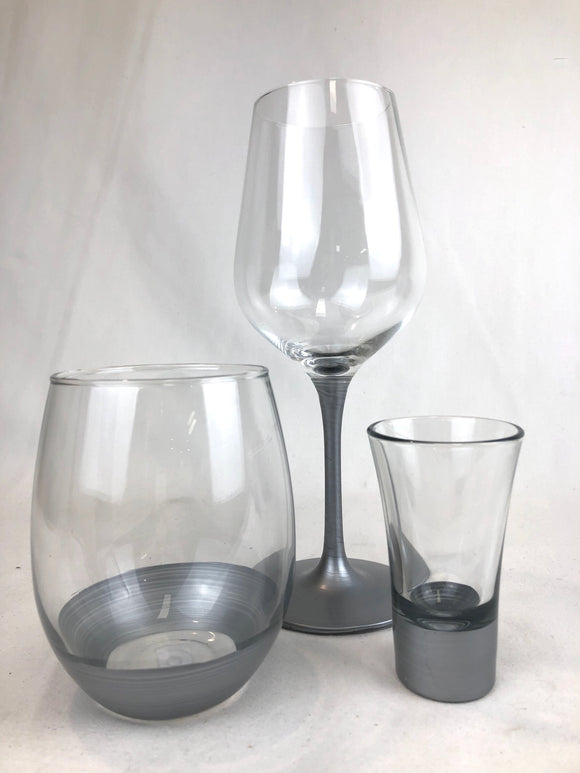 Assorted Glasses Silver - Cobbler rd