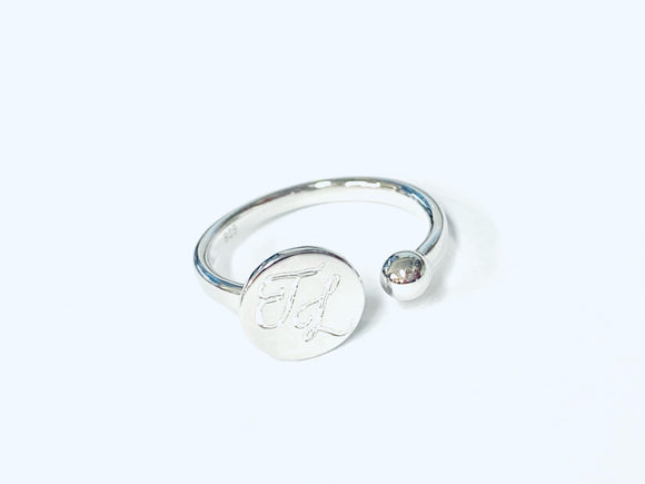 Open signet ring