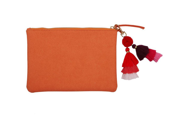 PUNCH MEDIUM SUEDE CLUTCH - COBBLER RD