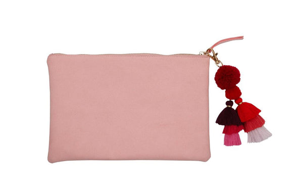 PUNCH LARGE SUEDE CLUTCH - COBBLER RD