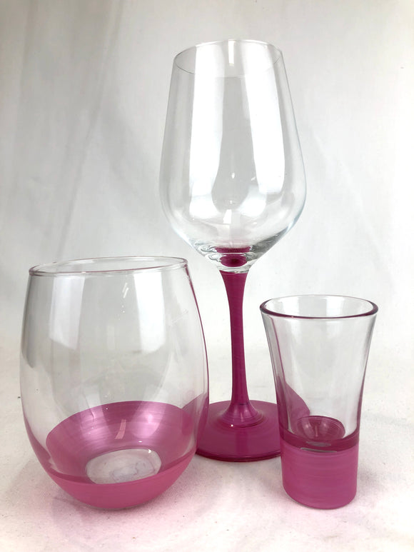 Assorted Glasses Pink - Cobbler rd