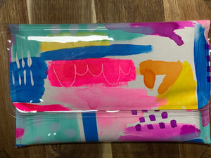 Poppy Lane Hand Painted Clutch
