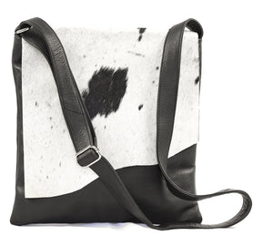 COWHIDE HANDBAG - WAVE FLAP BAG - THE PRAGUE (CA WAVE)